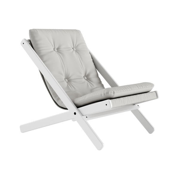 Fotoliu pliabil Karup Design Boogie White/Light Grey