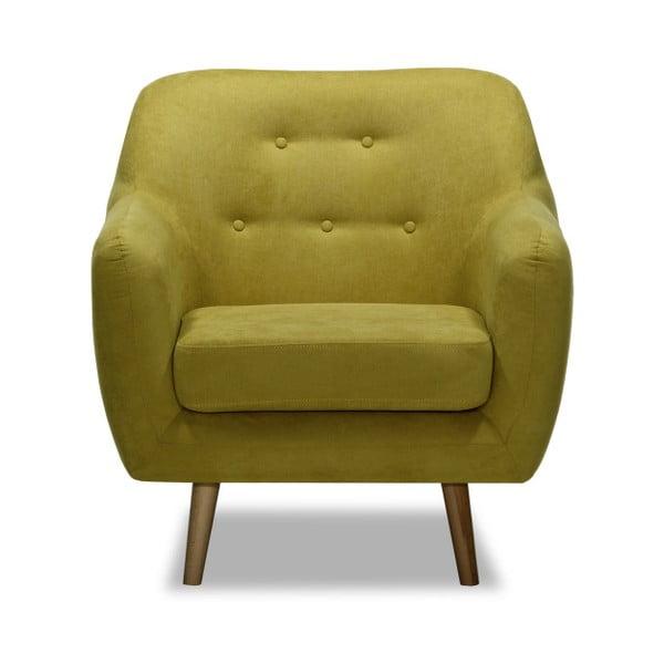 Musztardowy fotel Vivonita Lila