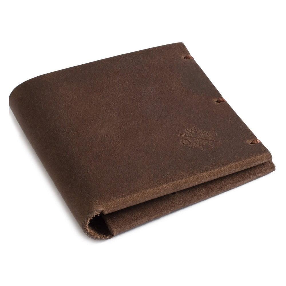 Hnědá kožená peněženka Woox Maturus Fuscus
