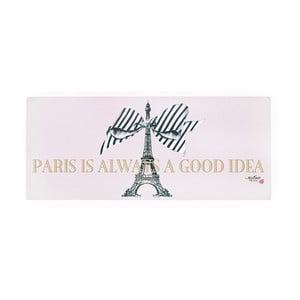 Kovová dekorativní cedule Miss Étoile Paris Rose, 13 x 30 cm