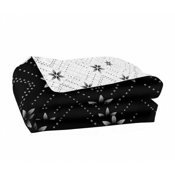 Sivo-čierna obojstranná prikrývka z mikrovlákna DecoKing Hypnosis Snowynight, 220×240cm