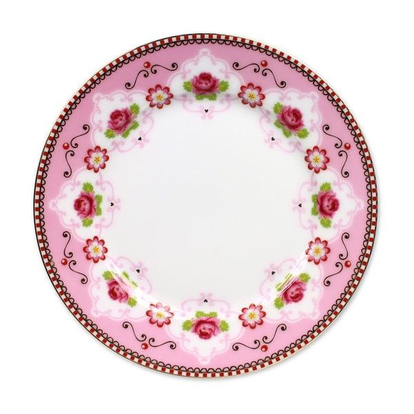 Dezertní talířek Blossom Rose 17 cm, růžový