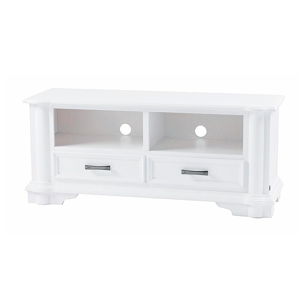 Bílý TV stolek Folke Amadeus, délka 125 cm