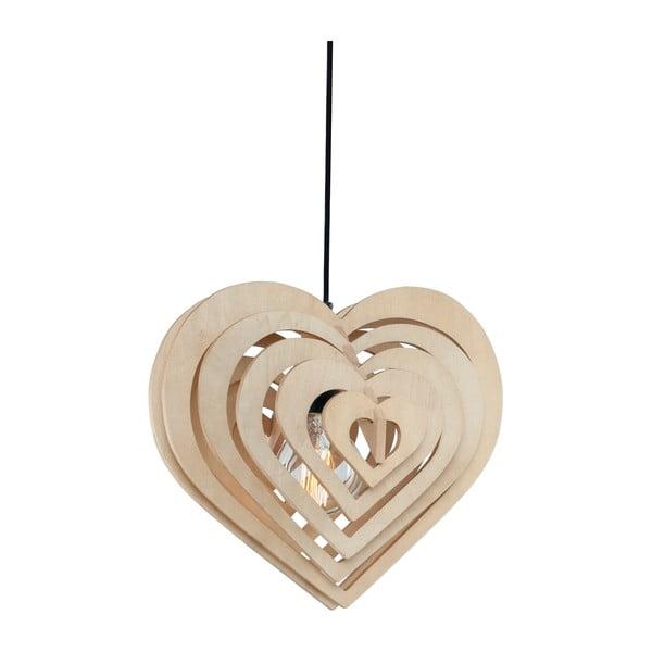 Závěsné svítidlo Wood Heart