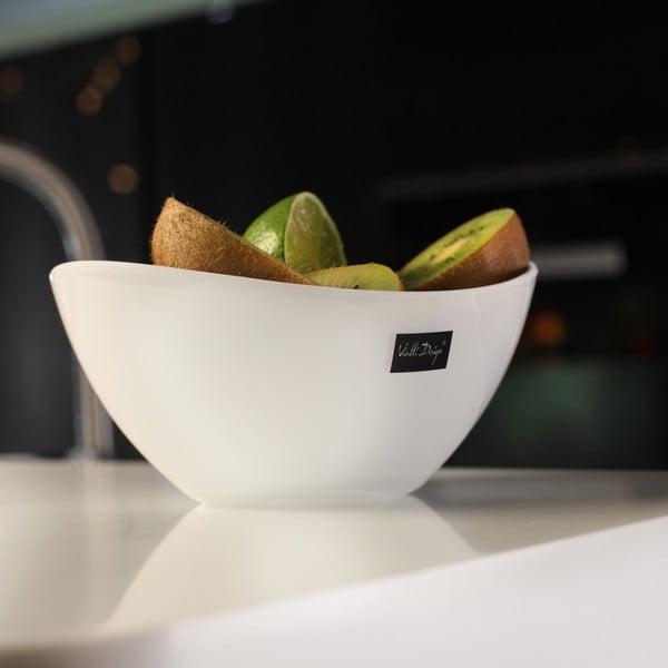 Castron pentru salată Vialli Design, 16 cm, alb
