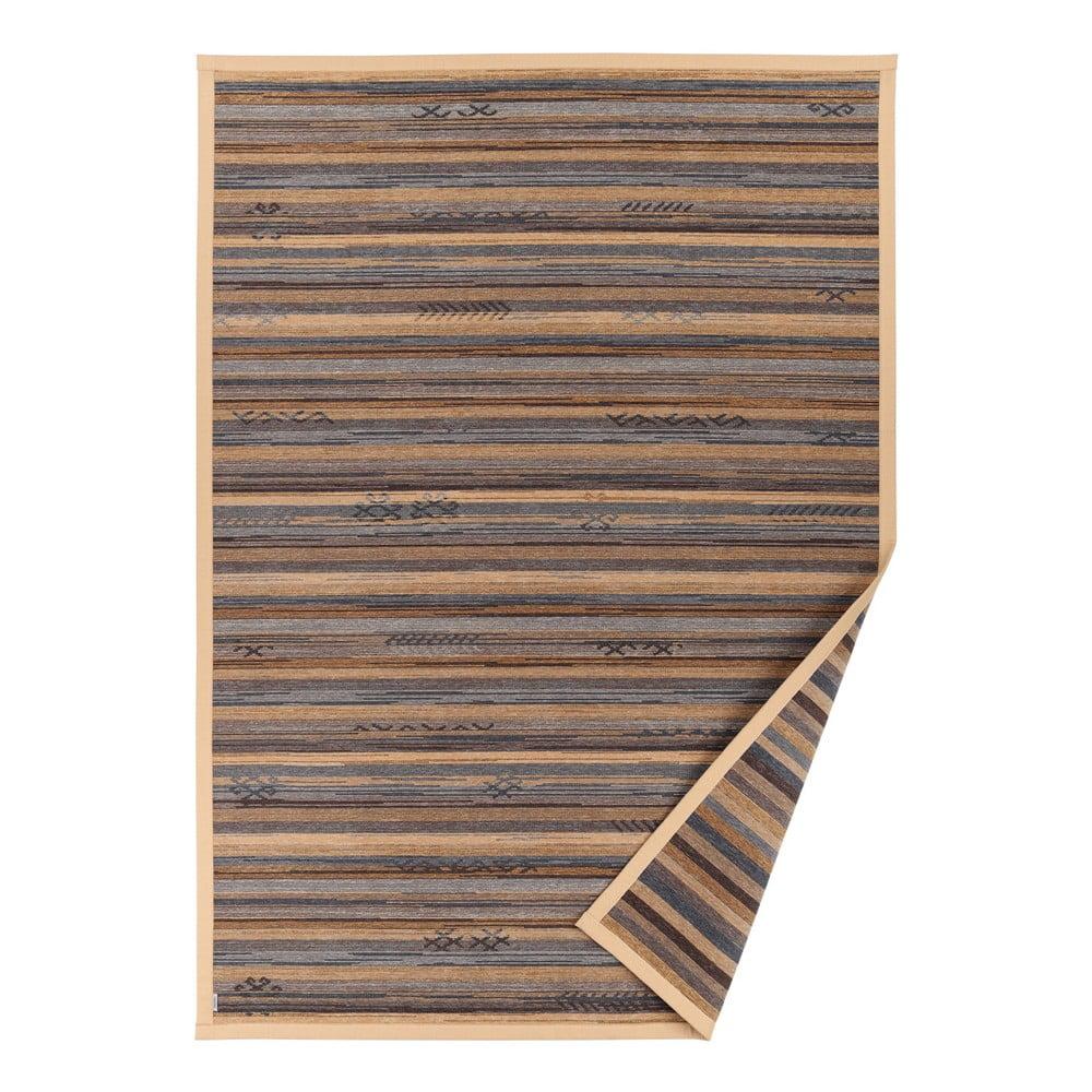 Fotografie Béžový vzorovaný oboustranný koberec Narma Liiva, 140 x 200cm