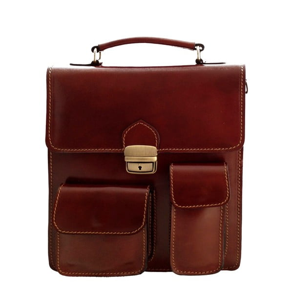 Kožený kufřík Verdicchio, čokoládový