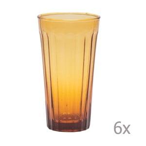 Sada 6 long sklenic Lucca Honey, 500 ml