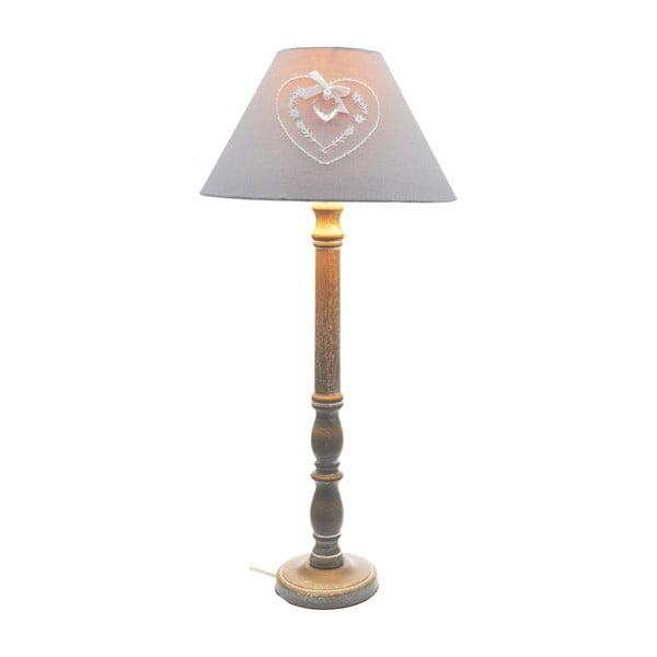 Stolní lampa Grey Heart