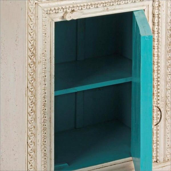 Skříňka s tyrkysovým vnitřkem Bizzotto Sarita