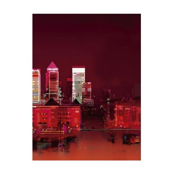 Obraz na plátně Červené město od Sam Toft, 80x60 cm