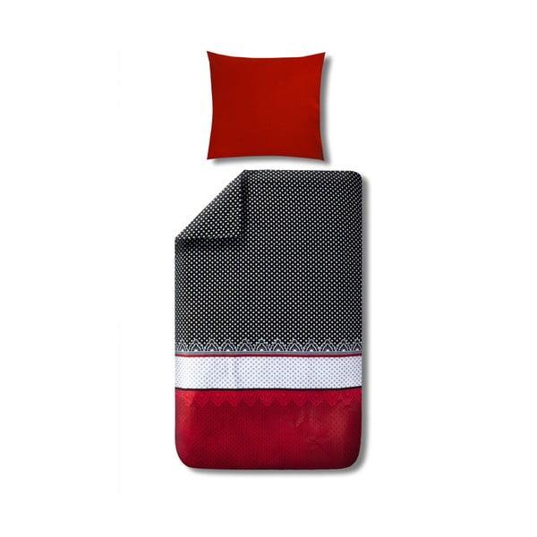 Povlečení s polštářem Dolce Red na jednolůžko, 135x200 cm