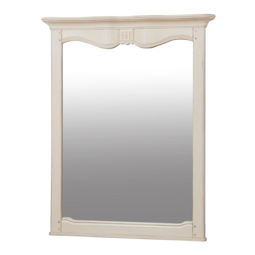 Zrcadlo s krémovým rámem z březového dřeva Livin Hill Verona