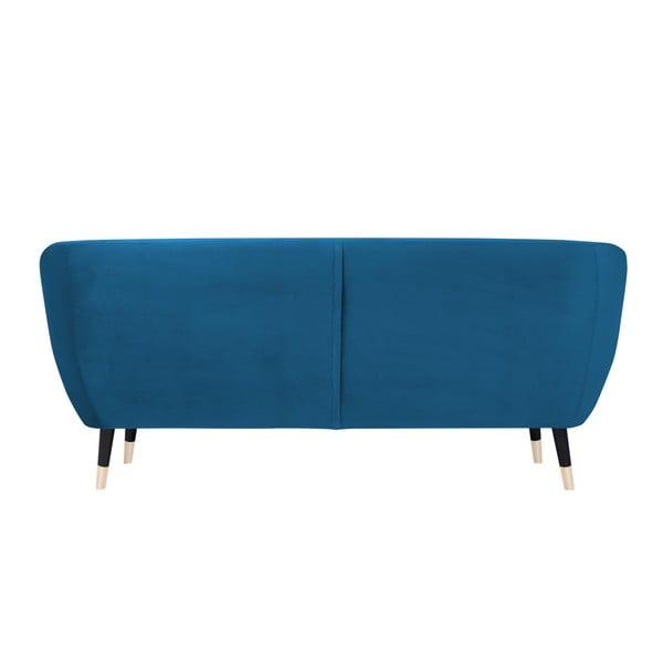 Modrá třímístná pohovka s černými nohami Mazzini Sofas Benito