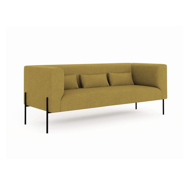 Canapea cu 3 locuri Milo Casa Nina, galben