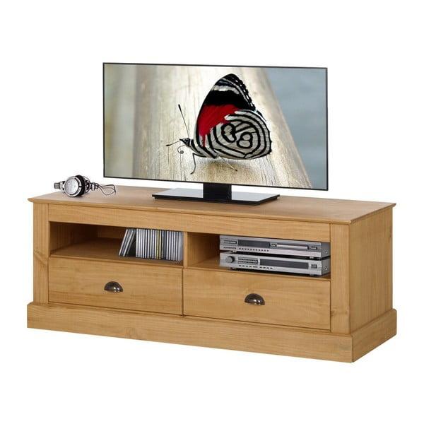Přírodní TV stolek z borovicového dřeva Støraa Tommy