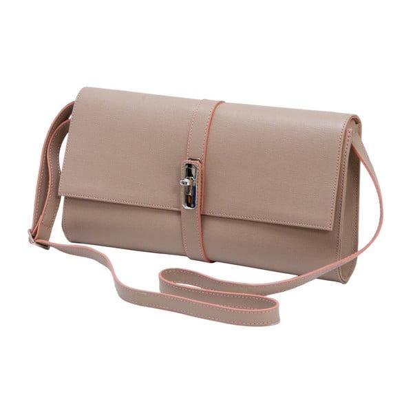 Starorůžová kožená kabelka Andrea Cardone 1010