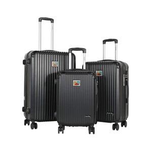 Sada 3 černých cestovních kufrů LULU CASTAGNETTE Darwin