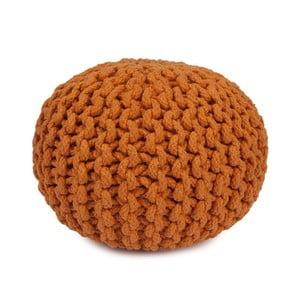 Oranžový ručně vyráběný bavlněný puf pro děti Mr. Fox, Ø30cm