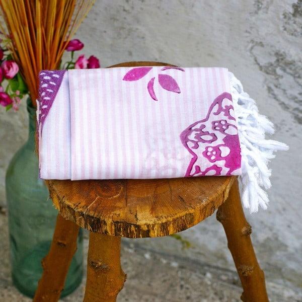 Hamam osuška Striped Pink, 90x180 cm