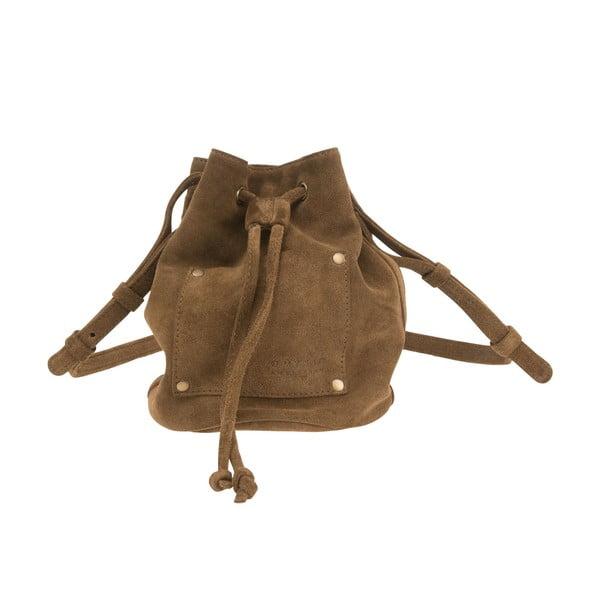 Kožený batoh Knapsack, béžový