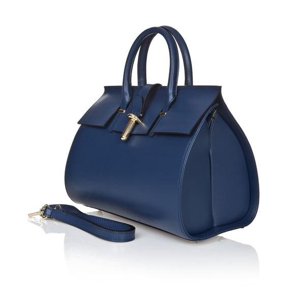Kožená kabelka Markese 5156, modrá