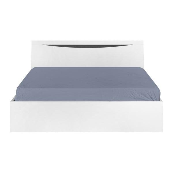 Białe łóżko dwuosobowe Artemob Letty, 140x200 cm
