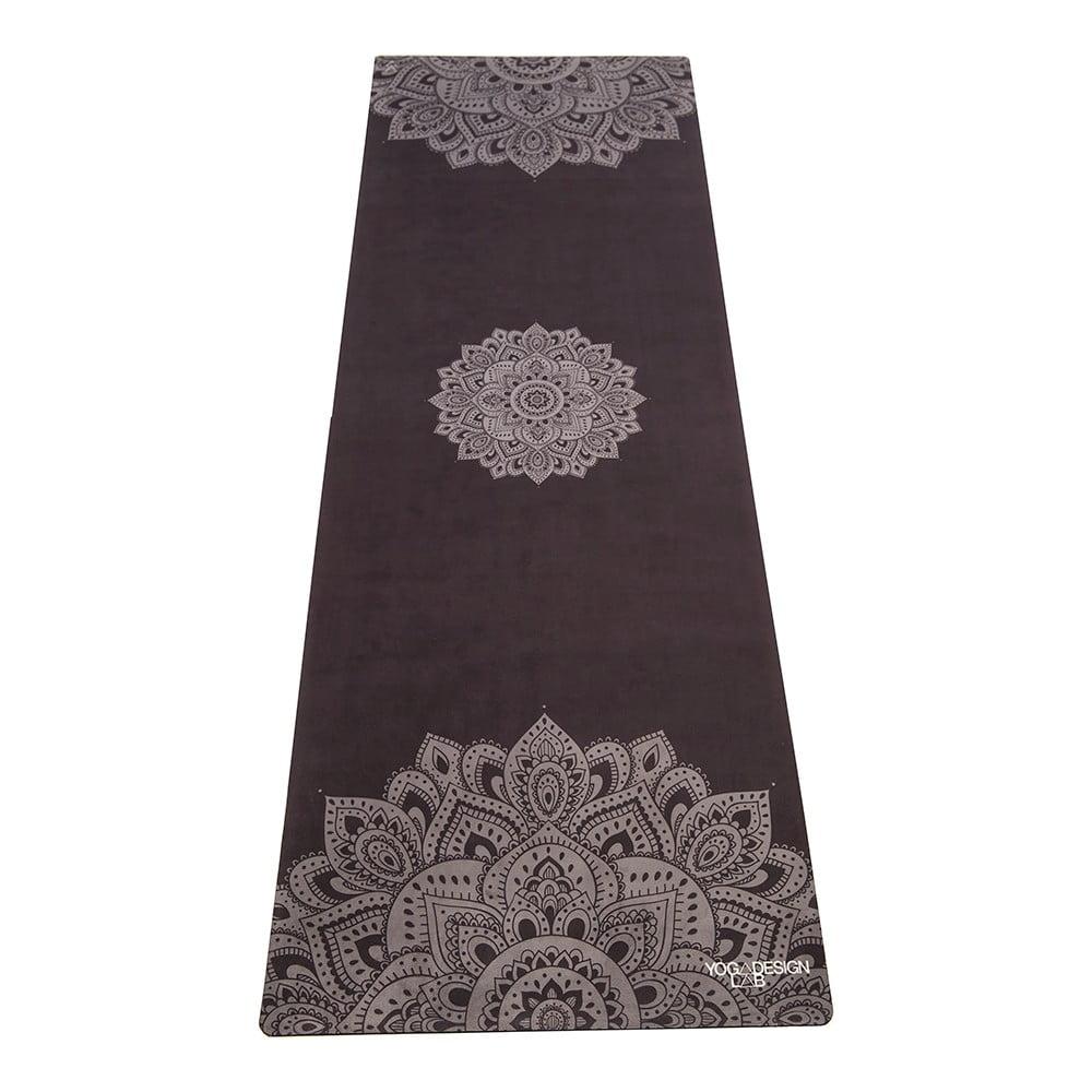 Černá podložka na jógu Yoga Design Lab Travel Mat Mandala, 900 g