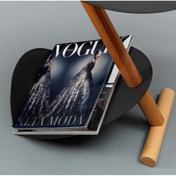 Černý odkládací stolek Design Twist Lake