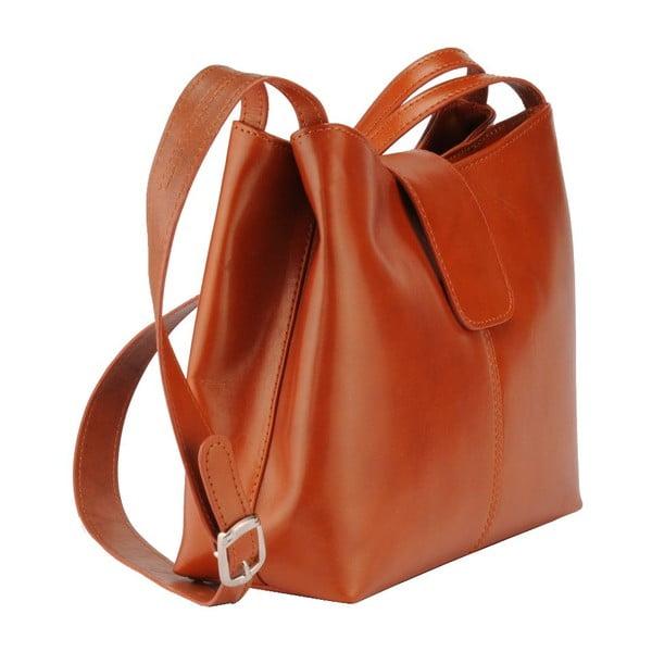 Kožená kabelka Kiwi, koňaková