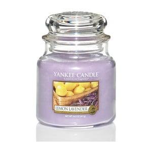 Vonná svíčka Yankee Candle, Citrón a levandule