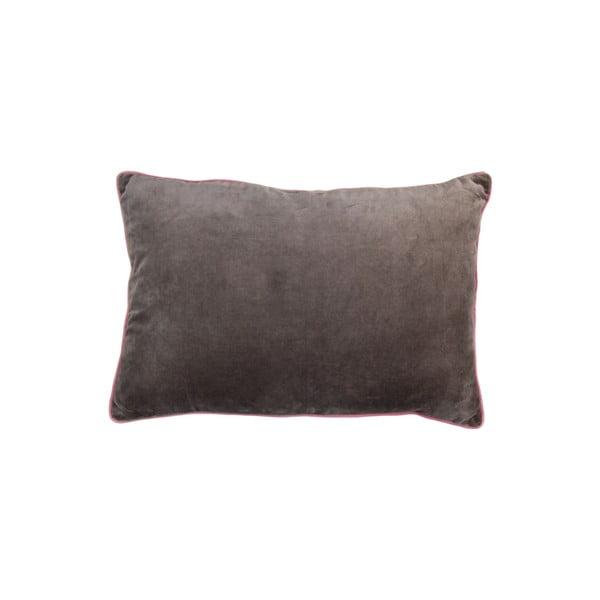 Béžovošedý bavlněný polštář HSM collection Colorful Living Mirado, 60 x 40 cm