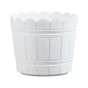 Vysoce odolný květináč Country 30 cm, bílý