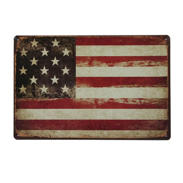 Cedule USA Flag, 20x30 cm