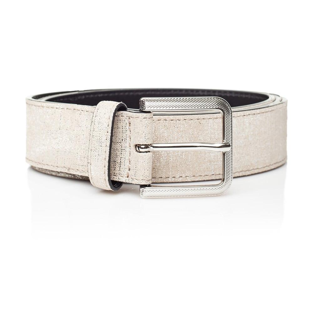 Bílý kožený dámský pásek Ferruccio Laconi Nike, délka 80 cm