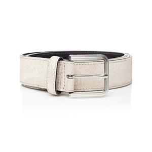 Bílý kožený dámský pásek Ferruccio Laconi Nike, délka 100 cm