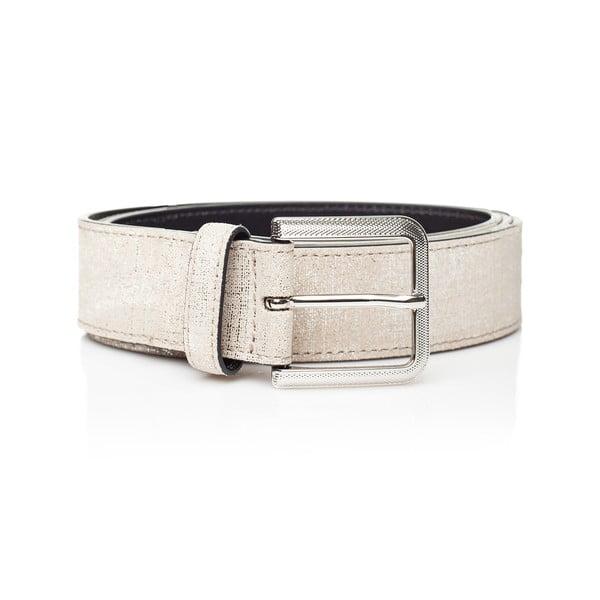 Bílý kožený dámský pásek Ferruccio Laconi Nike, délka 85 cm