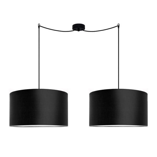 Černé dvojité závěsné svítidlo Sotto Luce Mika