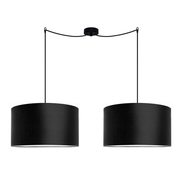 Czarna podwójna lampa wisząca Sotto Luce Mika