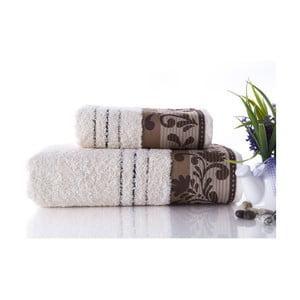 Set dvou ručníků Melodi Brown, 70x140 a 50x90 cm