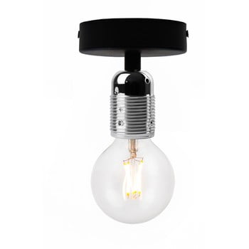 Plafonieră Bulb Attack Uno Basic, negru - argintiu imagine