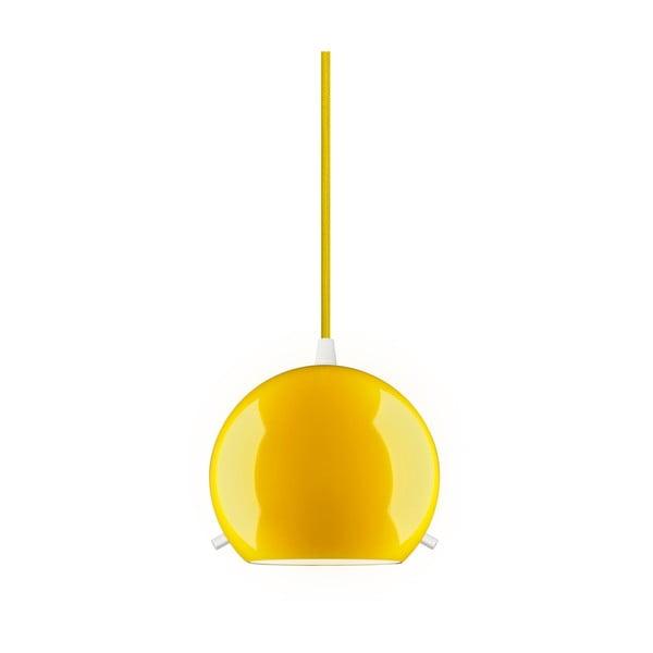 Žluté lesklé závěsné svítidlo Sotto Luce MYOO