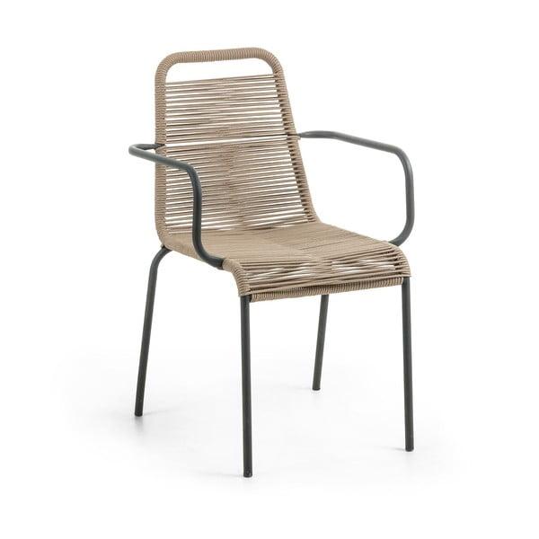Jasnobrązowe krzesło La Forma Glenville