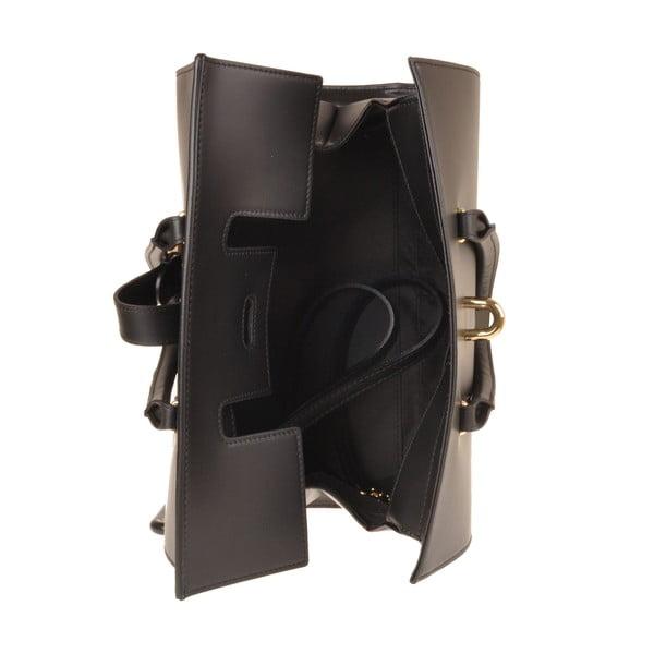 Kožená kabelka Emilio Masi Dabo, černá