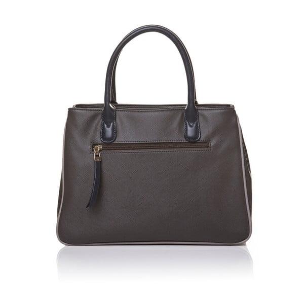 Kožená kabelka do ruky Marta Ponti Pocket, šedá/béžová