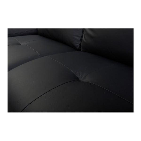 Canapea din piele cu 2 locuri Furnhouse Viktor, lățime 217 cm, negru