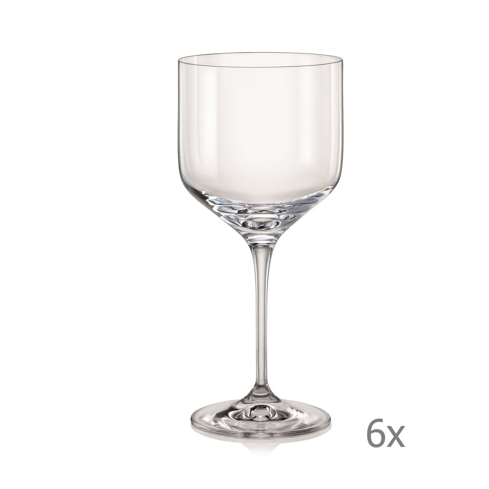 Sada 6 sklenic na víno Crystalex Uma, 490 ml