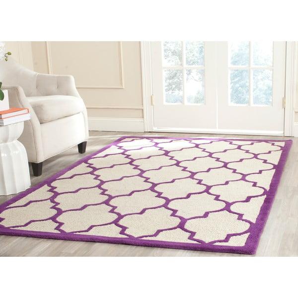 Vlněný koberec Everly Violet, 152x243 cm