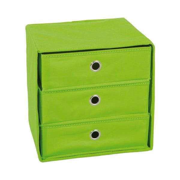 Zelený úložný box se zásuvkami 13Casa Lolly
