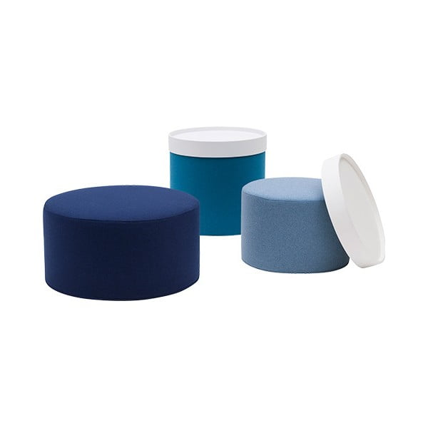 Světle modrý malý puf Softline Drum Small